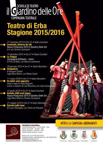 Stagione Teatrale 2015 - 2016