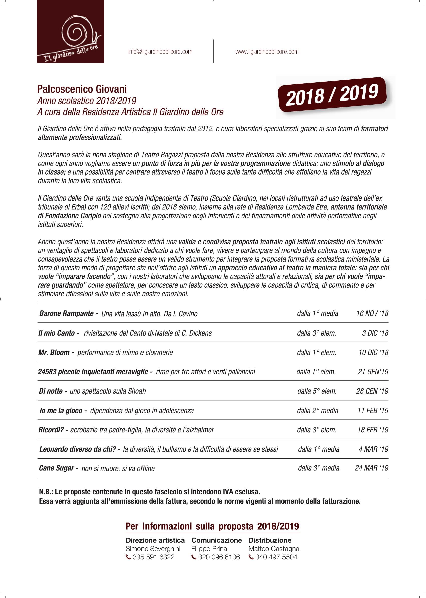 Palcoscenico Giovani 2018-19-03